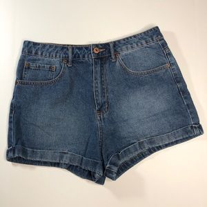 Forever 21 Rolled Cuff high waisted jean shorts